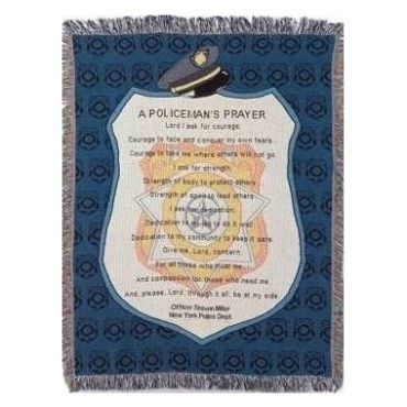 Policeman Prayer Throw