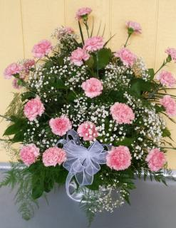 Carnations and Baby\'s breath