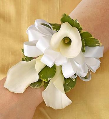 All White Corsage