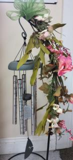 chimes with pink silks