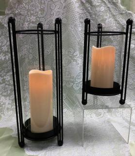Modern Lantern with candle