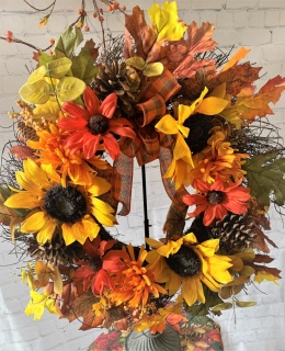 Fall Wreath Sunflowers