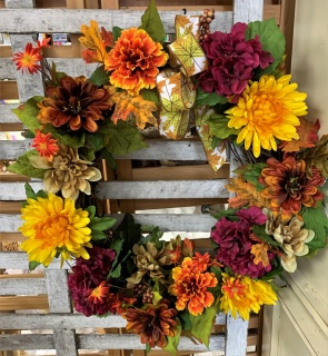 Fall Silk Wreath